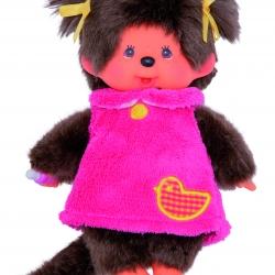 MCC-Maedchen-rosa Kleid mit Ente-Freisteller