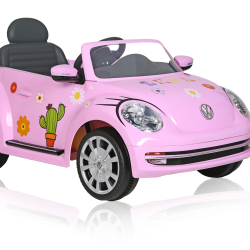 Rollplay Flower Power VW Beetle_pink