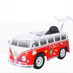 Rollplay Flower Power VW Bus Push Car_rot